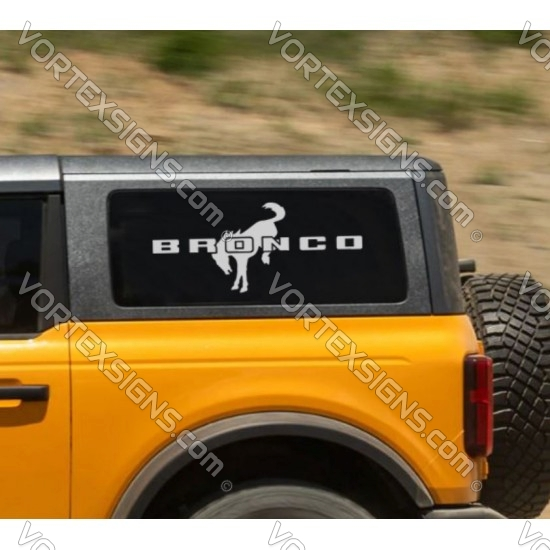 Side Window Bronco logo sticker