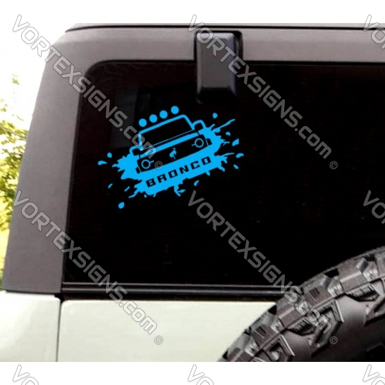Ford Bronco window sticker