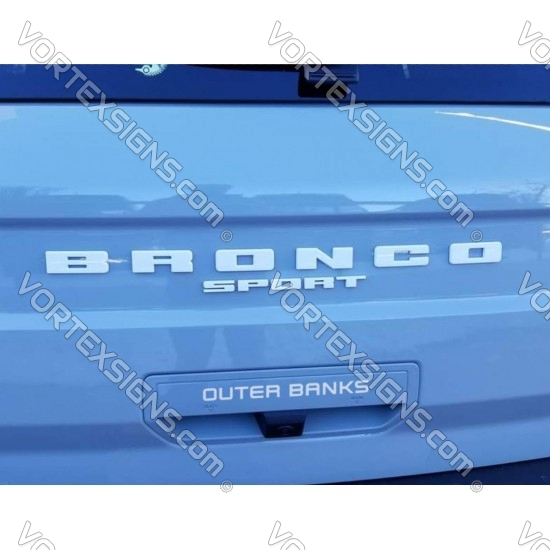 Trunk Door handle Trim Model name decal for Ford Bronco Sport sticker
