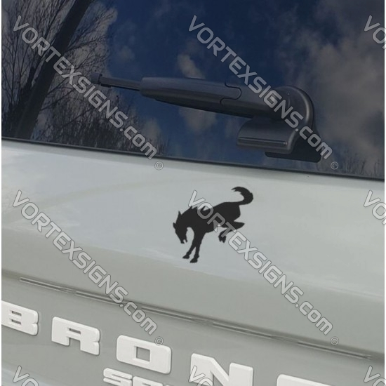 baby  Bronco Sport trunk logo horse sticker