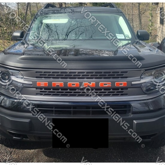 Vinyl Letters Overlay decal for Ford Bronco Sport (Front - grille) sticker