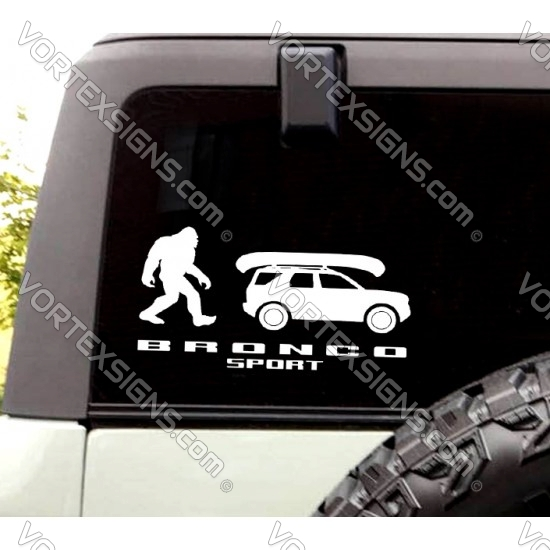 Bronco Kayak Sasquatch decal sticker