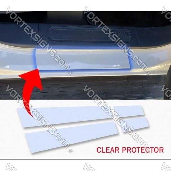 Door Sill Protector, Door Sill Scuff Plate Cover PPF for Ford Bronco 6G - CLEAR sticker