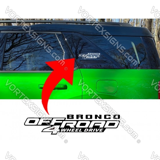 C pillar OffRoad decal (Ford Bronco) sticker