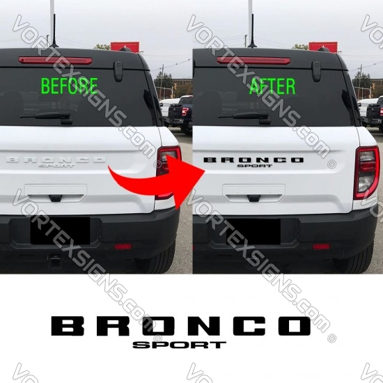 2021 2022 Rear front grille Vinyl Letters Overlay for Ford Bronco Sport badge sticker