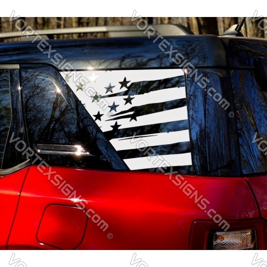 Ford Bronco Sport 3rd Window Decal - v1 sticker US flag