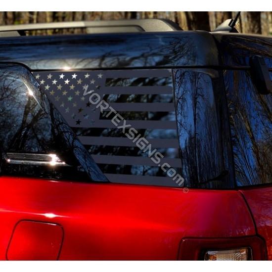 Ford Bronco Sport 3rd Window Decal - v1 sticker US flag