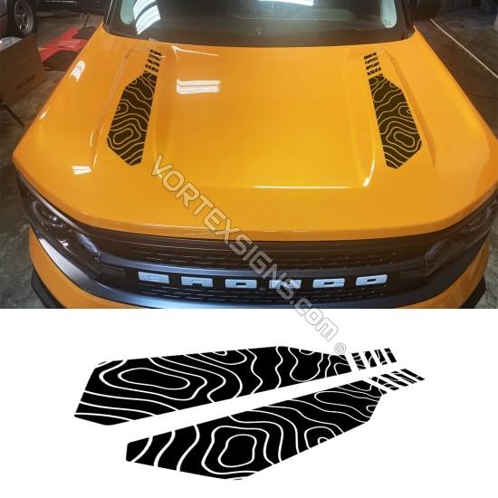Vinyl Hood Accents stripe graphics for Ford Bronco Sport - V3 sticker
