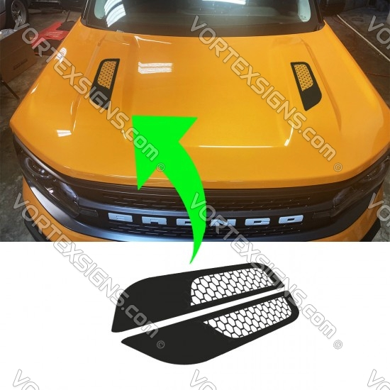 Vinyl Hood Accents for Ford Bronco Sport accessories