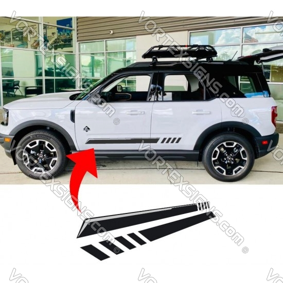 Ford Bronco Sport Door Body bottom stripe Graphic - 1 sticker