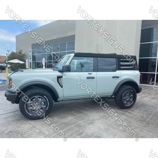 2021 2022 6g Ford Bronco fender accent sticker with vent hole