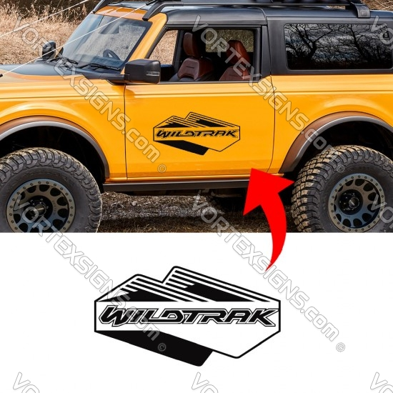 buy WILDTRAK Door logo decal body graphics sticker