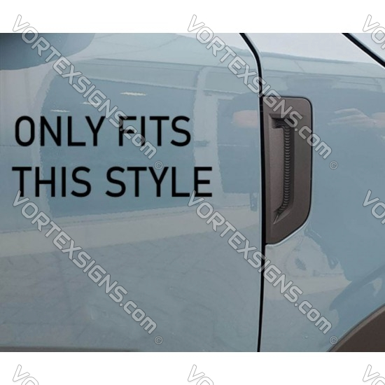 Fender vent Accent vinyl Overlay decal for Ford Bronco Sport sticker