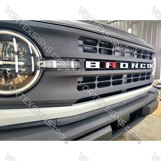 One Letter Vinyl Letters Overlay decal for 2021 2022 Ford Bronco grille sticker
