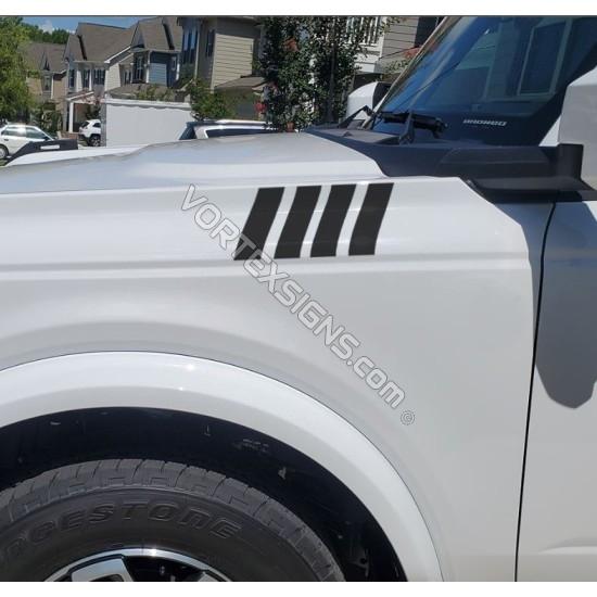 Fender vent Accent vinyl Overlay for Ford Bronco 6G - V3 sticker