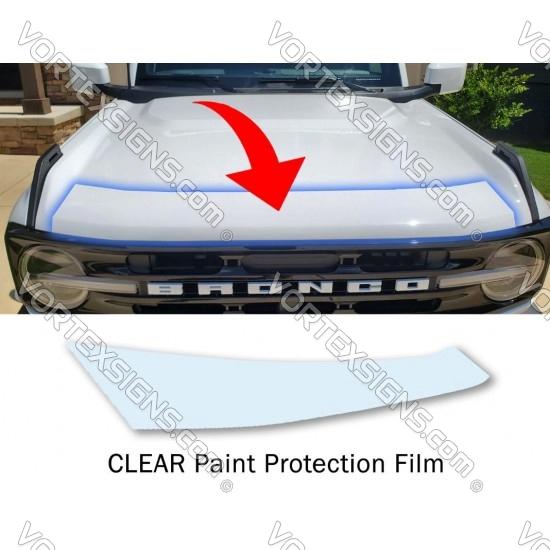 Clear Hood protector  film PPF StoneGuard for Ford Bronco 6G