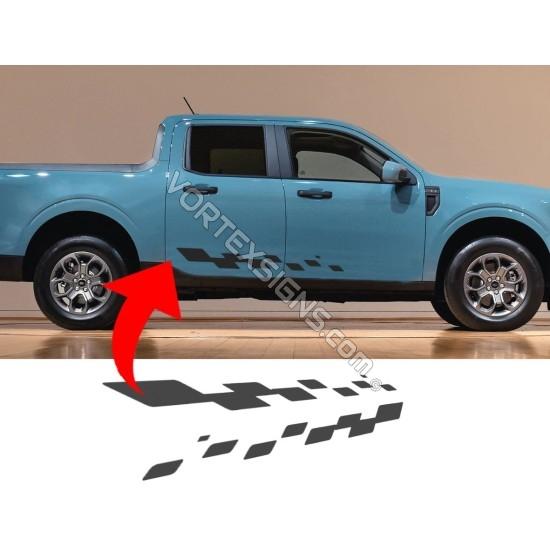 Ford Maverick side door stripes decal sticker