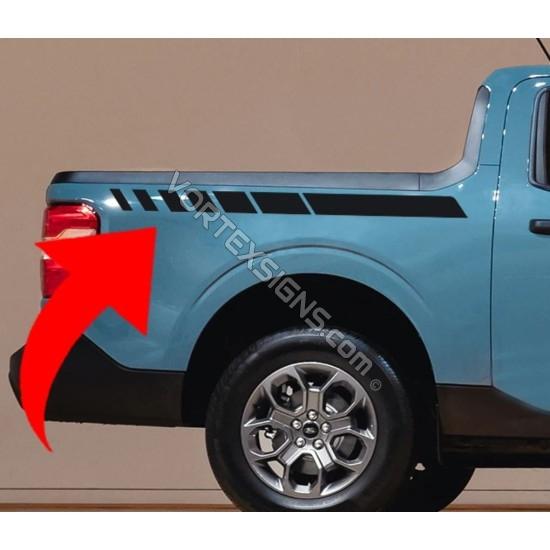 2022  Ford Maverick bedside stripes Graphics Decal - v1 sticker