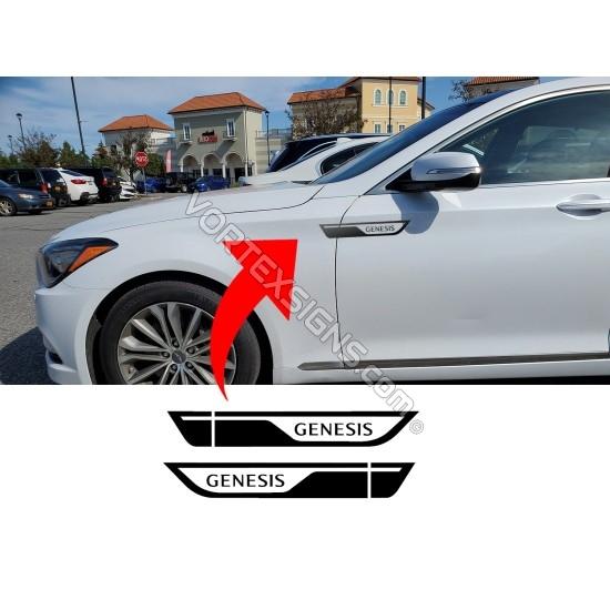 Hyundai Genesis fender accent sticker decordation