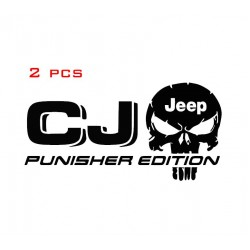 2pcs Jeep CJ Punisher Decals