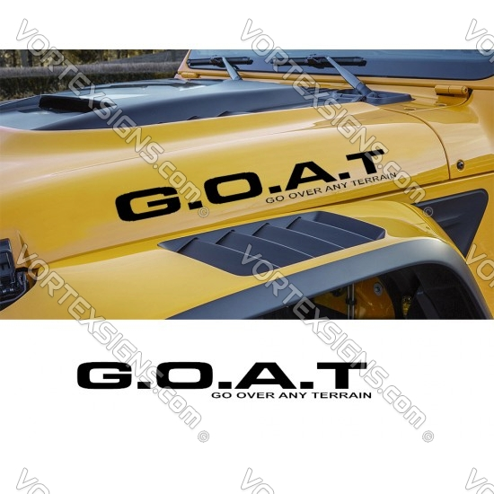 GOAT vinyl Hood Letters for Jeeps sticker graphics