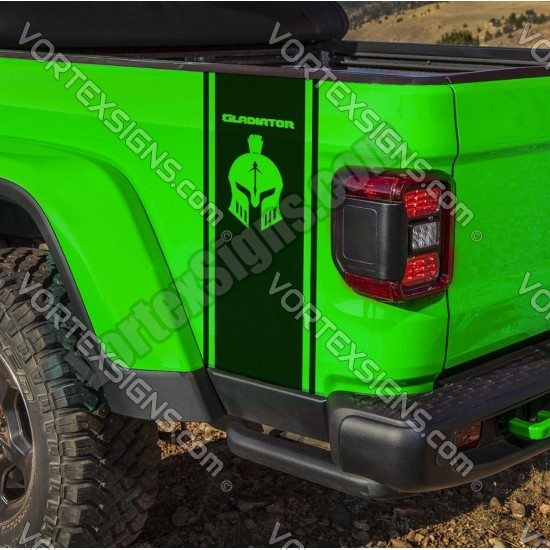 Gladiator bed Side Stripes sticker body graphicss