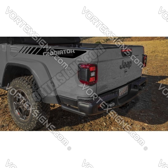 jeep Gladiator bedside Stripes sticker