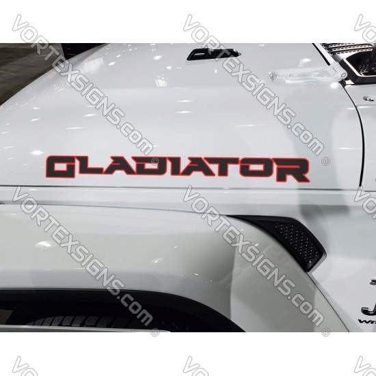 2021 2022 Jeep Gladiator Hood sticker with helmet logo overlay