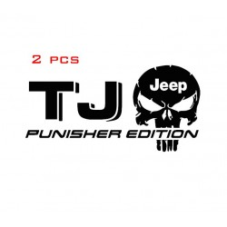 2pcs Jeep TJ Punisher Decals