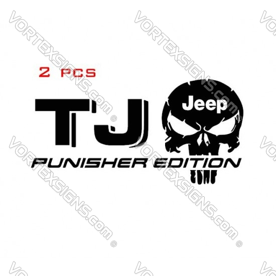 Jeep TJ Punisher Decals sticker