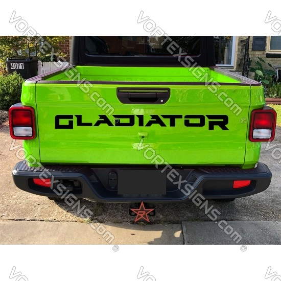 Jeep Gladiator Tail gate Letters sticker