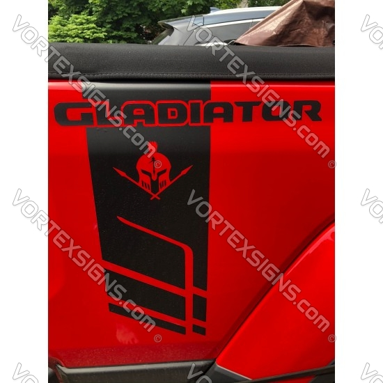 Gladiator bed Side Stripes sticker exterior accessory 2021