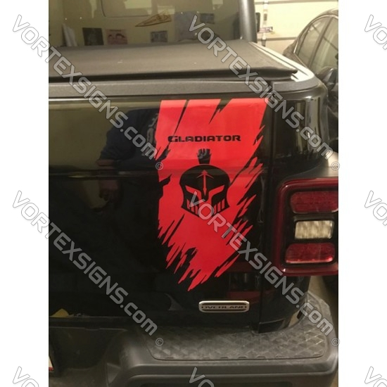 2021 Jeep Gladiator ripped tail gate graphic sticker