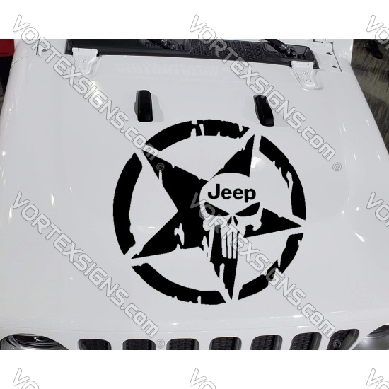 Punisher Skull Star sticker