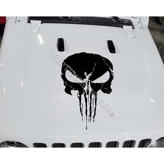 Skull hood Decal 3 sticker