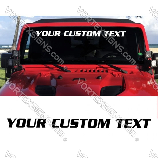 cheap truck Windshield custom Text sticker hashtag