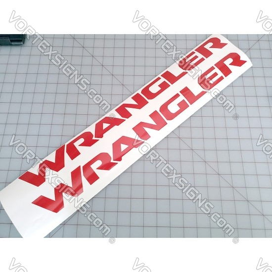 Wrangler Hood Script Decal sticker