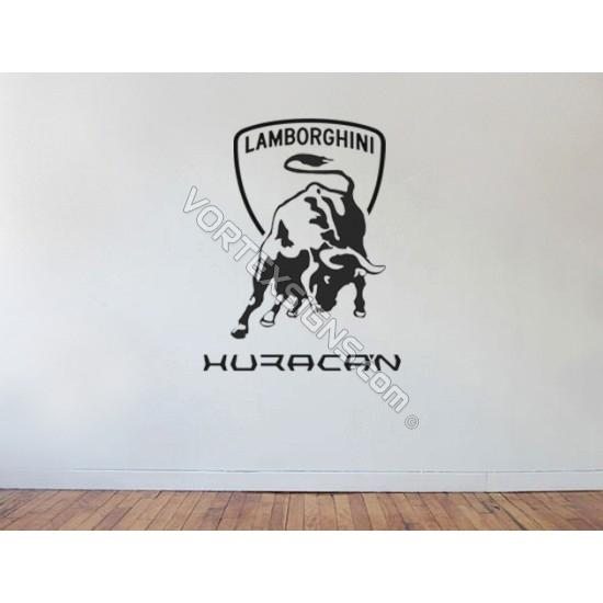 lamorghini Huracan Wall Logo garage bedroom sticker