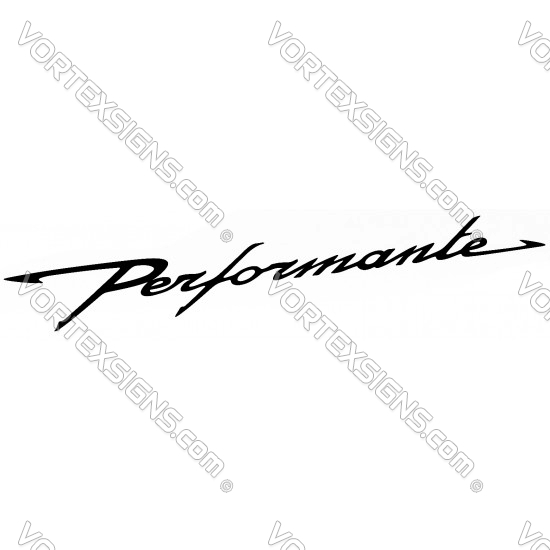 Performante decal sticker