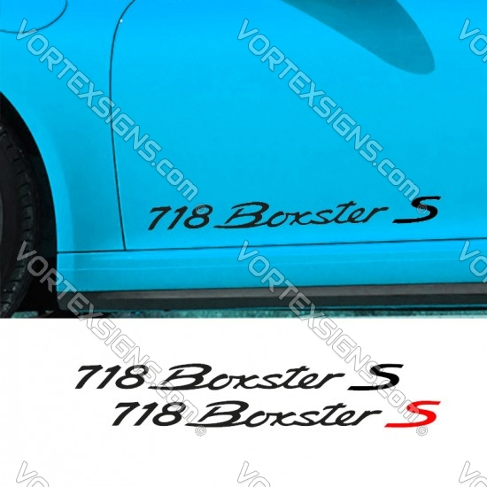 718 Boxter S Decal sticker body graphics