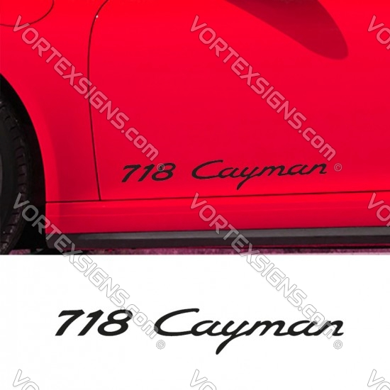 718 Cayman Decal sticker body graphics