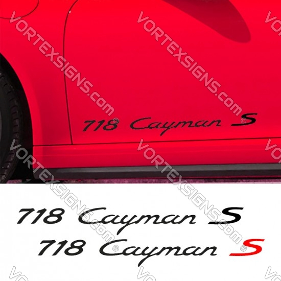 718 Cayman S Decal sticker body graphics