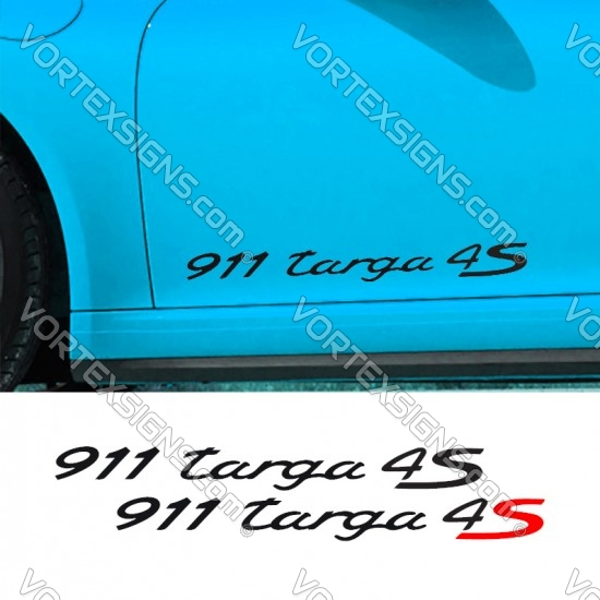 911 Targa 4S Decal sticker graphics for side doors