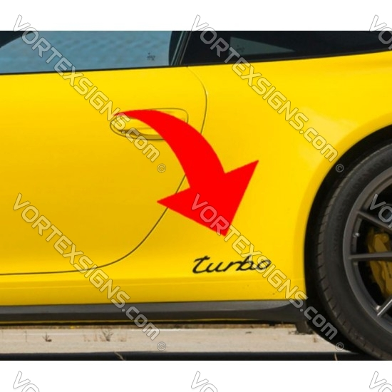 porsche turbo style sticker for the exterior