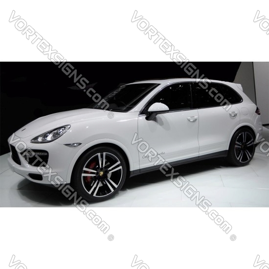 cayenne Turbo Style sticker exterior accessory