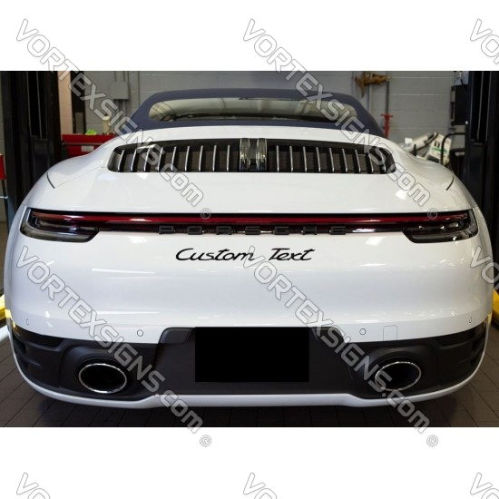 Custom TEXT in Porsche Font decal sticker your own font