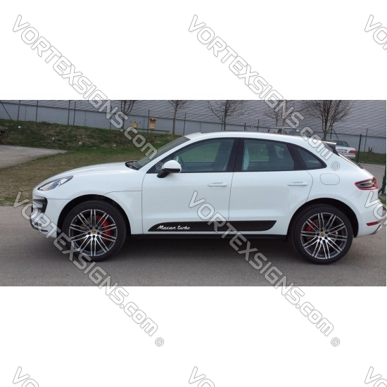 Macan Turbo Decal sticker exterior accessory