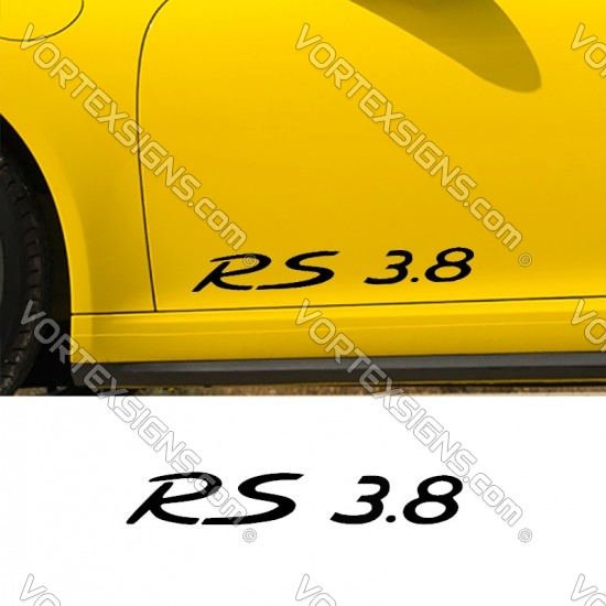 RS 3.8 Decal sticker as exterior accessory