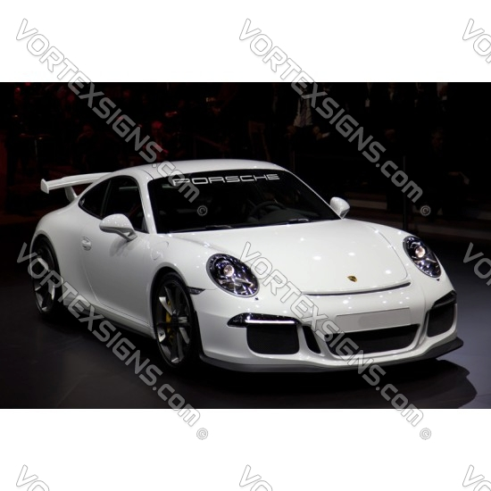 porsche windshield long letters nameplate decal