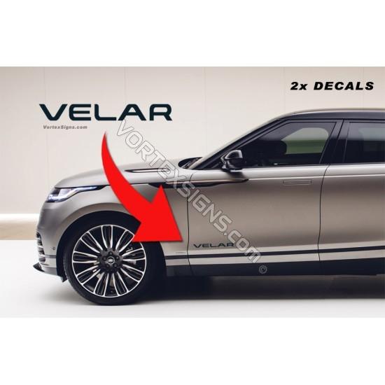 Velar Door Decal sticker